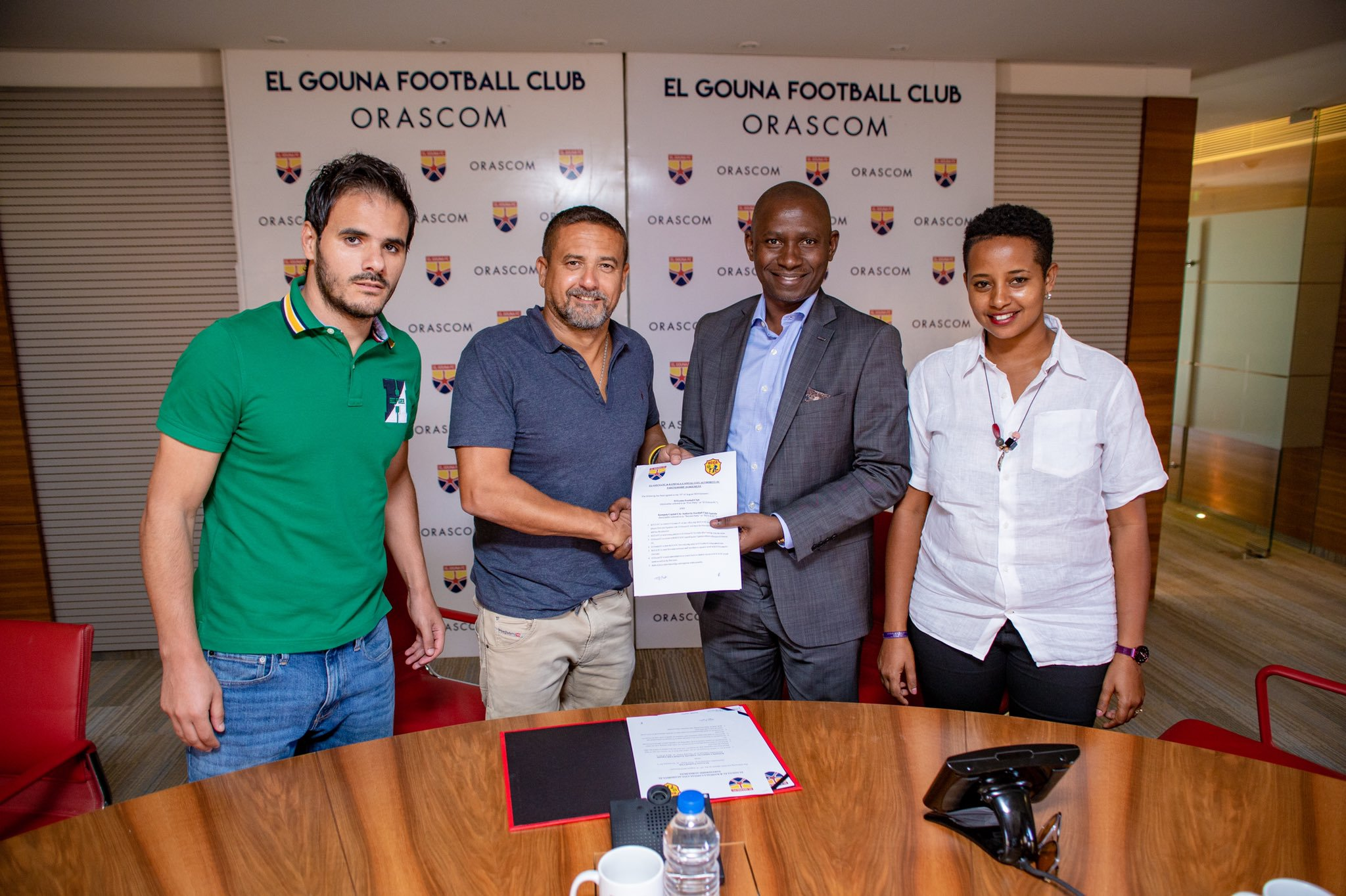 ANNOUNCEMENT: KCCA FC signs partnership with Egyptian side El Gouna FC.