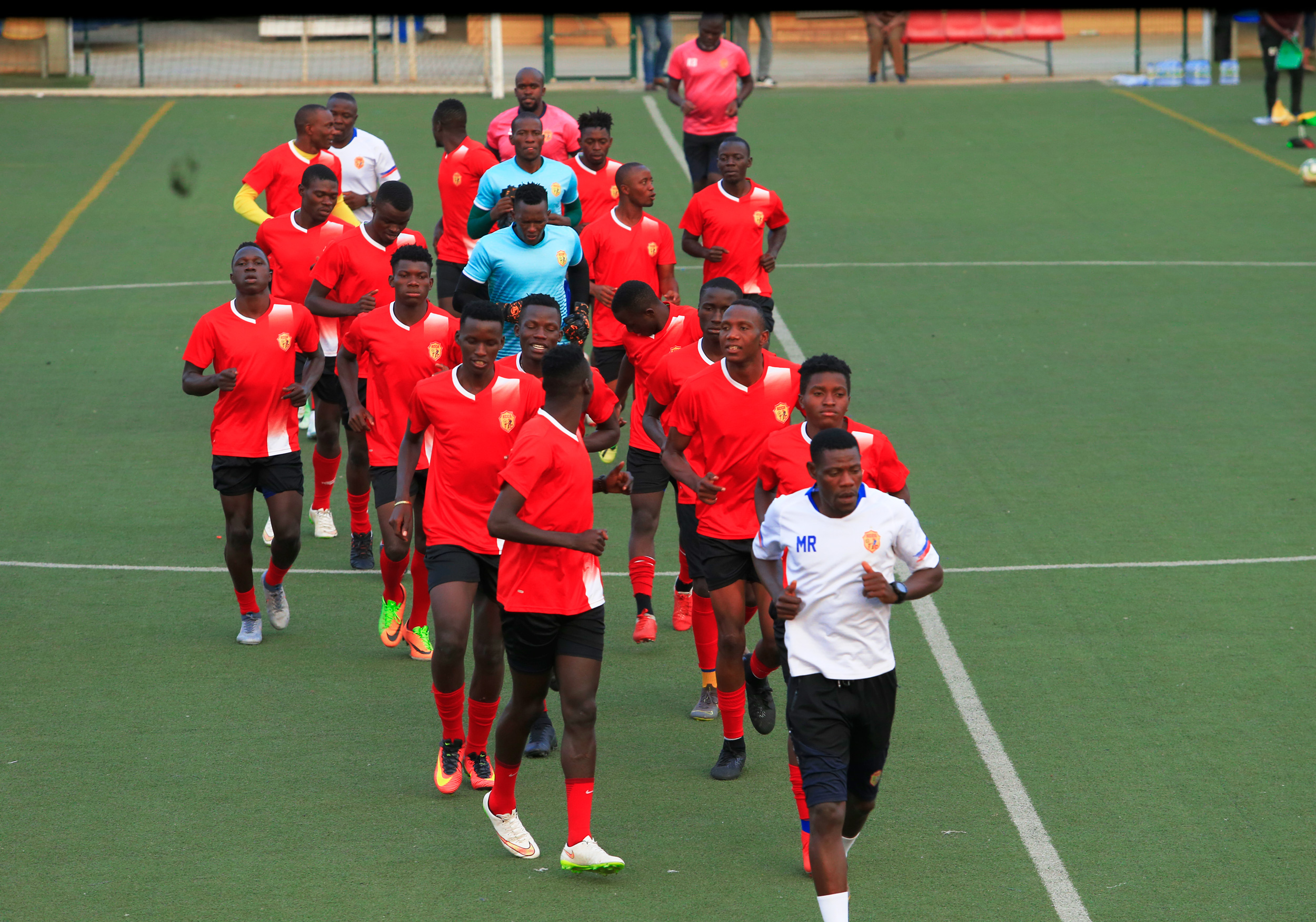 KCCA FC holds first training session in Angola -CAF Champions League.